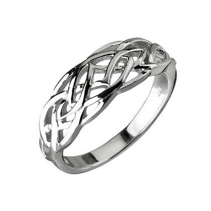 Assayed Celtic Ring Plain Silver