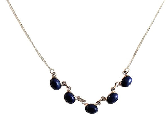 Sterling Silver Lapis Lazuli Necklace