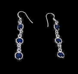 Sterling Silver Lapis Lazuli Drops Royal Blue