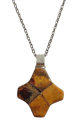 Vintage Natural Amber Chunky Necklace 1 Oz +