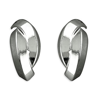 Contemporary Sterling Stud Earrings