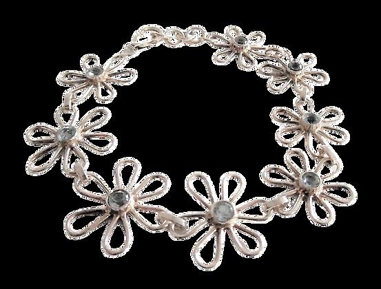 Assayed Silver Blue Bracelet Daisy
