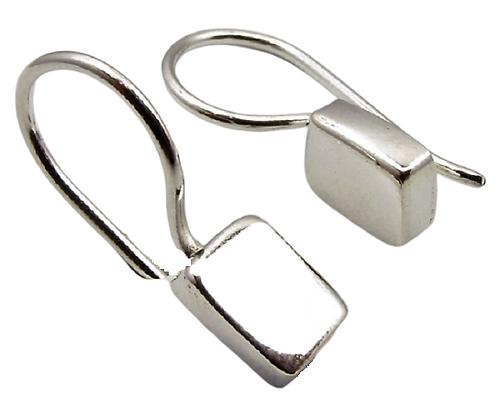 Sterling Silver Small Chunky Rectanglar Earrings