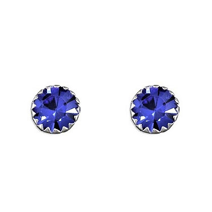 Real Sterling Silver Blue Studs