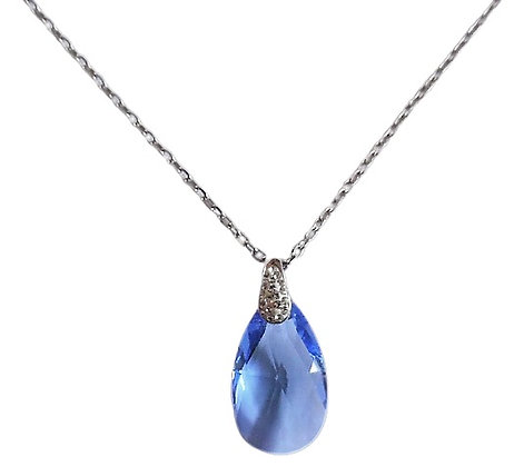 Sterling Light Blue Necklace