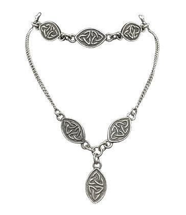 Sterling Silver Celtic Necklace and Bracelet Set