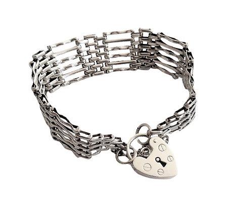 Vintage Assayed 6 Bar Gate Bracelet