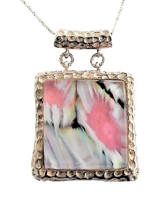 Silver Perfume Bottle Necklace
