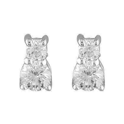 Sterling Silver Deco Earrings
