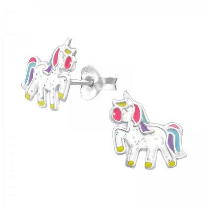 Sterling Unicorn Earrings