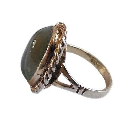 Vintage Malachite Ring Green
