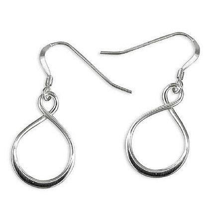 Plain Sterling Silver Loop Earrings