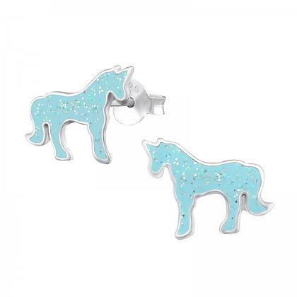 Turquoise Sterling Unicorn Earrings