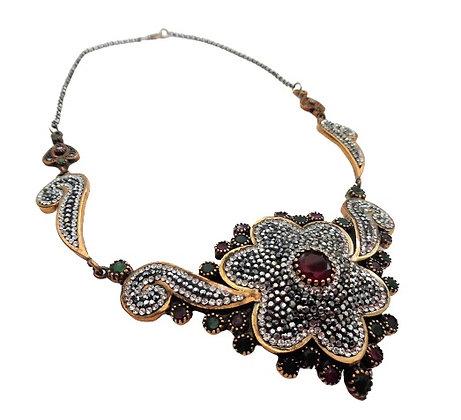 Vintage Silver Necklace Art Nouveau