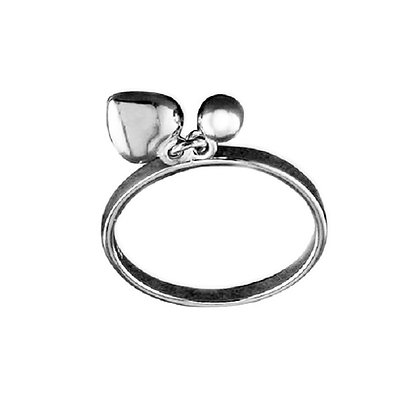Assayed Silver Ring With Charms