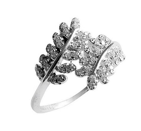 Assayed Silver Ring Leaves