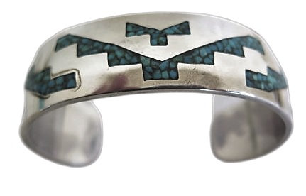Vintage Stering Silver Turquoise Bangle