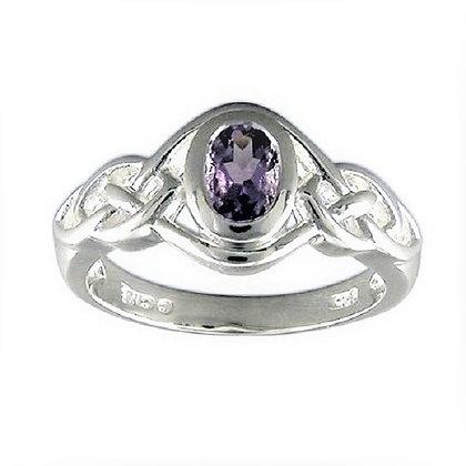 Assayed Silver Purple Ring