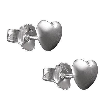 Sterling Silver Heart Earrings Studs