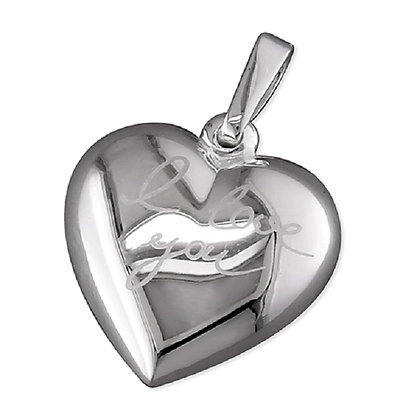 Sterling I Love You Heart Necklace