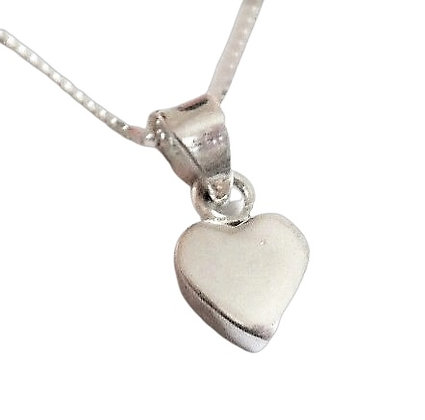 Sterling Chunky Heart Necklace