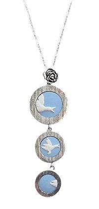 Stephen Webster Designer Necklace Blue Jasperware Ducks 1 Oz +