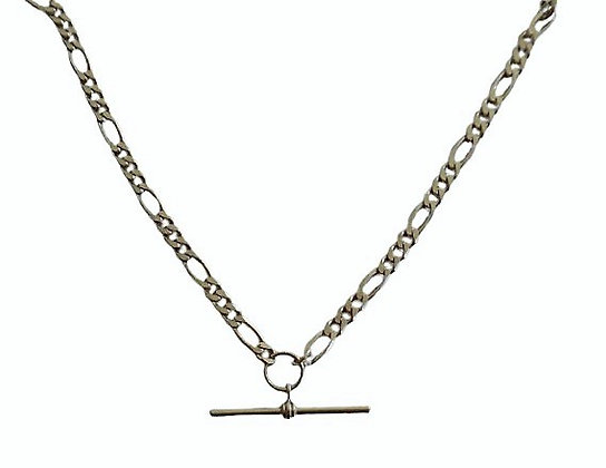 Sterling Figaro Necklace T-Bar