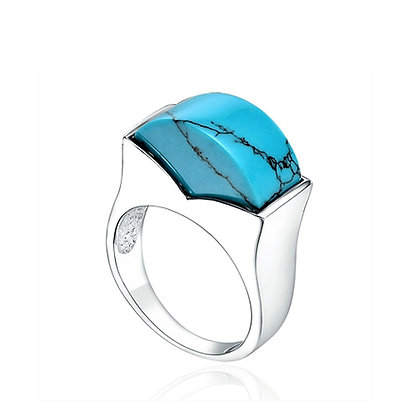 Sterling Chunky Turquoise Ring