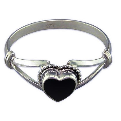 Assayed Onyx Ring Heart