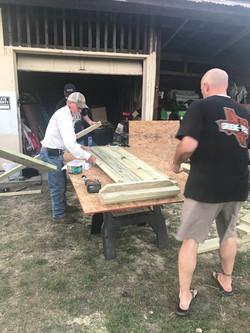 Building picnic tables