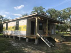 Park host/laundry/shower cabin being built (2018)