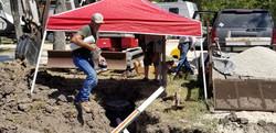 Plumbing lines to new sites
