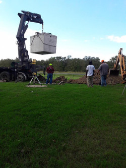 New septic going in (2018)