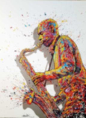 Joshua-Redman 130x97cm - GALERIE 337 - COURCHEVEL - ST PAUL DE VENCE - GENEVE - PARIS - TABLEAU - PEINTURE - ART - ART CONTEMPORAIN