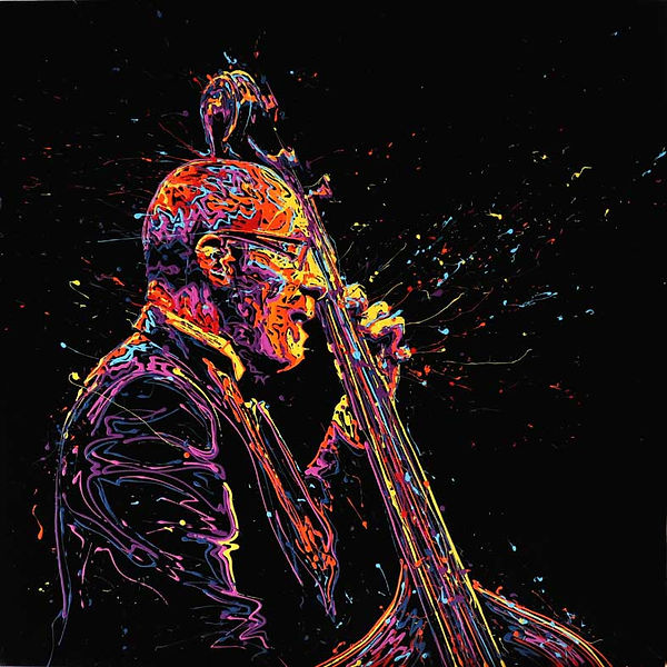 Ron Carter 100x100cm - GALERIE 337 - GENEVE - ST PAUL DE VENCE - COURCHEVEL - ART - ARTISTE - TABLEAU - PAINTING -