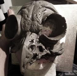 owl clay model