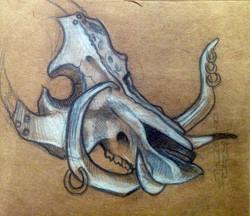 boar design sketch