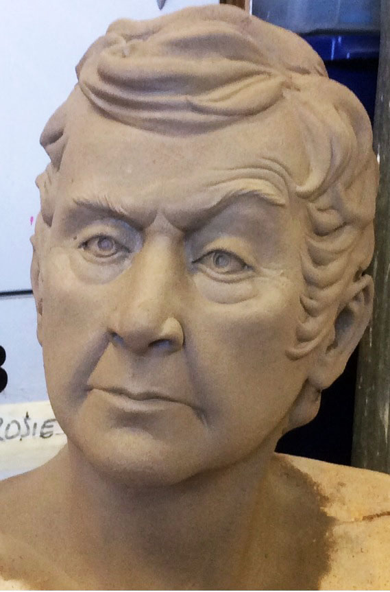 Finished portrait, water based clay