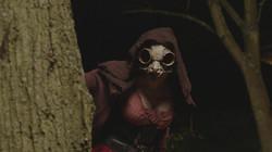 owl mask on set