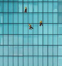 Share Cleaning does professional commercial interior and exterior window cleaning at any height from single-story retail centers and restaurants to multi-story high-rise office towers.