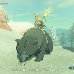 Just riding a bear...