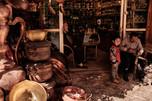 Kashgar. Xinjiang Uyghur. Three generation family