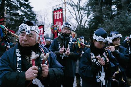 Hachinohe. Hachinohe. Japan. People waiting for Hono-zuri