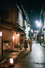 Kyoto. Japan. Maiko and Oka-san in Miyagawa-cho
