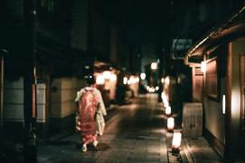 Kyoto. Japan. A maiko in Miyagawa-cho