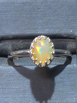 .93 ct  sterling opal ring