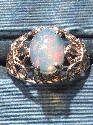 1.40 ct rose gold  fleu di lis opal ring