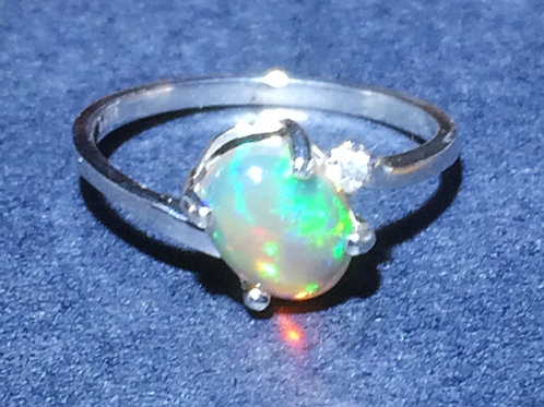 .66 ct opal ring in sterling silver