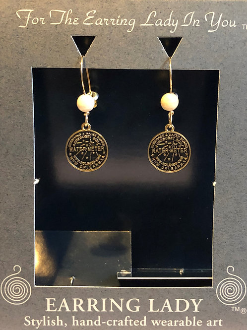 New Orleans Water Meter Cover Earrings