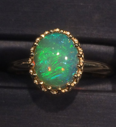 2.12 ct opal ring in 10k yellow gold